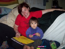Drawing with Auntie Jill August 2006
