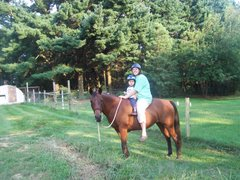 Esther and I riding Tauna