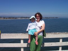 Esther and I on the Santa Cruz Warf, June 2006
