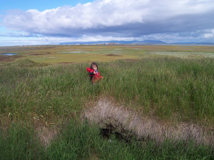 Esther at Old Hooper Bay, August 2006