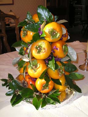 Persimmon Centerpiece for Thanksgiving 2005