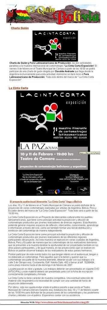 """""""El Quin Bolivia"""" de La Paz - Bolivia"""