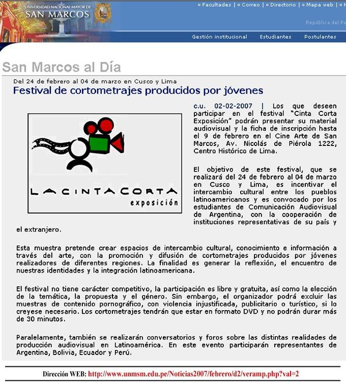 Boletín de la Univers. Nac. Mayor de San Marcos, Lima - Perú