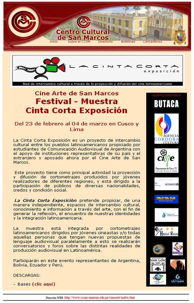 Boletín del Centro Cultural de San Marcos - Perú