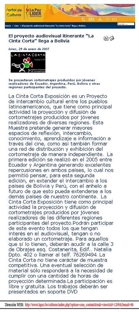 Boletín del Gob. Municipal de La Paz - Bolvia