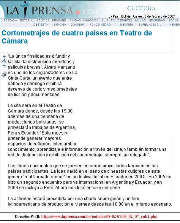 """""""La Prensa"""" de La Paz - Bolivia"""