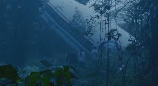 screenshot of cockpit crash site