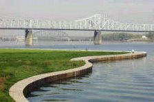 The Ohio River along the Left Bank near Milepost 606