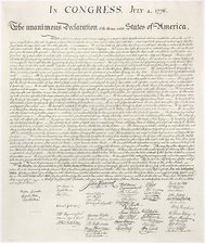 The Declaration of Independence we recognize