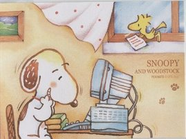 Snoopy nervioso...
