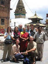 The team at Swyambunath