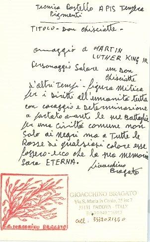 Gioacchino Bragato, Italy, Rcvd 04/07--A message in Italian...