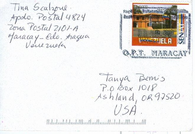 Tina Scalzone, Venezuela  Rcvd 04/07