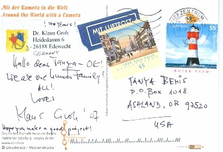 Dr. Klaus Groh, Edewecht, Germany--Stamps and message from Germany