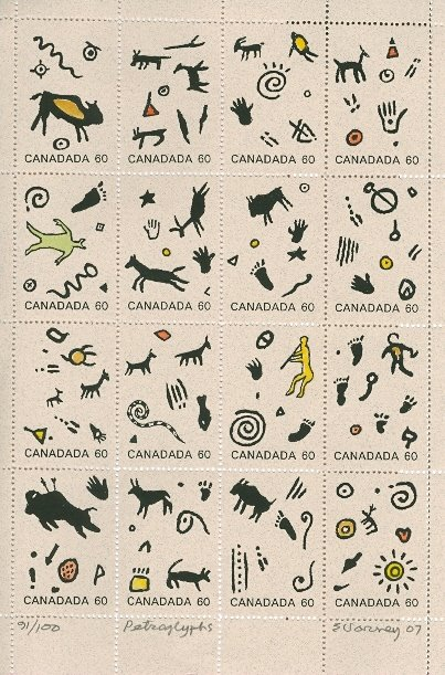 Ed Varney, Canada, Petroglyphs, 91/100 printed, Posted 06/07