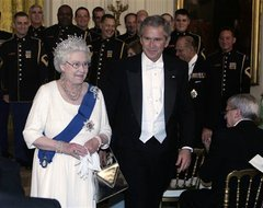 Queen Elizabeth II and President Bush