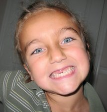 Gabby Loses Another Tooth - July 4th - 2007