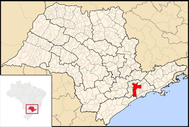 Mapa del Estado de São Paulo