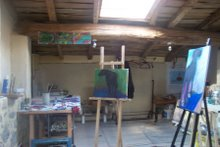 studio, above gallery