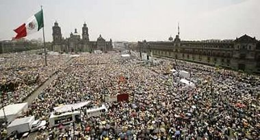 PIC OF THE PROTEST AGAINST THE FRAUD.  JULY 2007