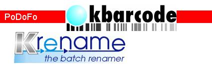 Dominik Seichter's blog: KRename, KBarcode, PoDoFo
