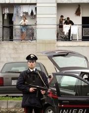 Carabinieri durante la faida