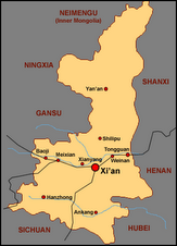 Sha'anxi Province Map