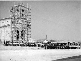 Praça Central - Igreja matriz - 1959