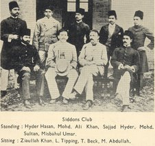 Principal Beck with Members of Siddon's Club