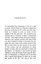 Preface :The Life and Work of Syed Ahmad Khan