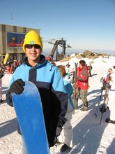 Mark learns SnowBoarding