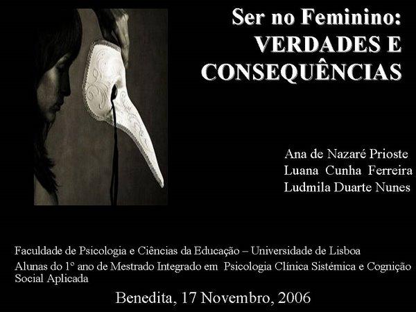 Conferência Ana Prioste, Luana Ferreira e Ludmila Nunes