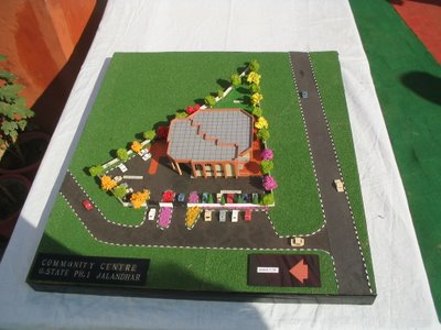 Behold! The model of the community hall...PUDA-Punjab Urban Development Authority, Jalandhar together with Mohinder Singh Kaypee and others lay the foundation stone of the Urban Estate, Phase-I, Jalandhar's community hall (gopal1035)