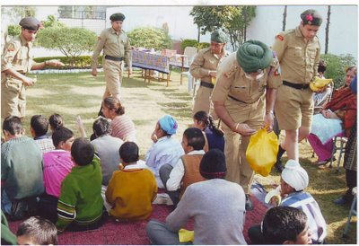 APeeJay School Jalandhar NCC Army Wing Junior Division Cadets visit PARYAS Mental School run by RED CROSS SOCIETY (25-11-2006) (gopal1035)