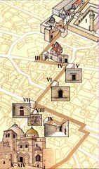 Map of Via Dolorosa in Jerusalem