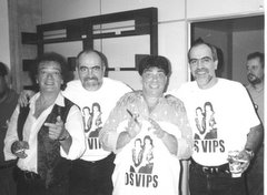 """Célio e Xandy Bussay com Os Vip""""s"""