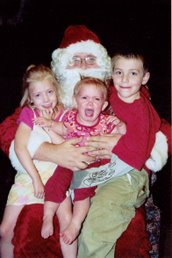 Santa & the kids in 2006