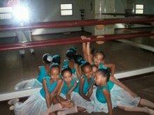 Eu e minhas amigas no ballet
