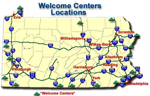 Pennsylvania Rest Areas/Service Plazas