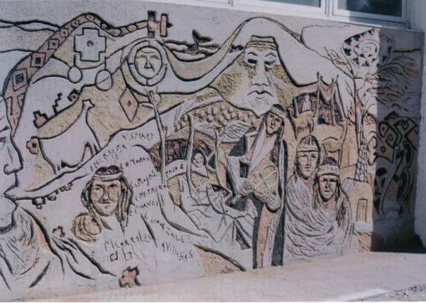 Mónica Corrales-Mural esgrafiado