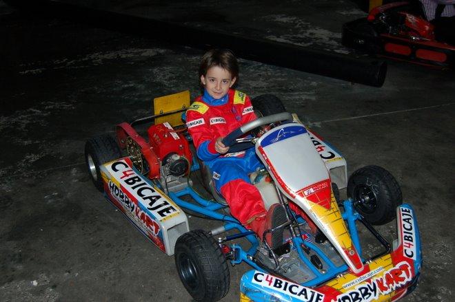 Pablo en su FA Kart - Comer 80