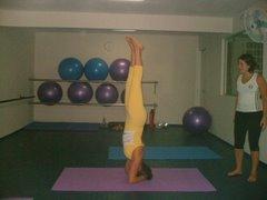 Professora praticando ...equilíbrio!