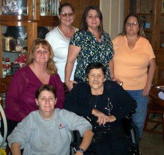 Lana, Tina, Vicki, Teresa & Donna Waters, Jean Curnutt