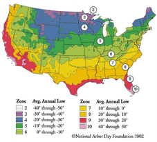 Hardiness Zone Map ~ USA