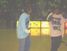 Performing at Coppin University's 2007 homecoming basketball game