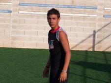 Marcos, jugador cadete que ha fichado por el Villareal en nuestro campus