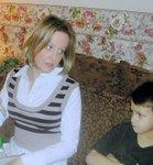Cissie and Logan Christmas 2006