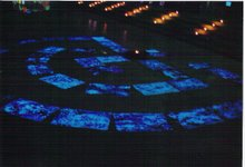 Communicative artproject on Tournee 1000m2 Blacklightexhibition of Barbara Streiff in Berlin