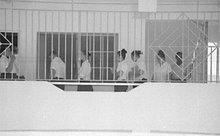 Girls walking in a line