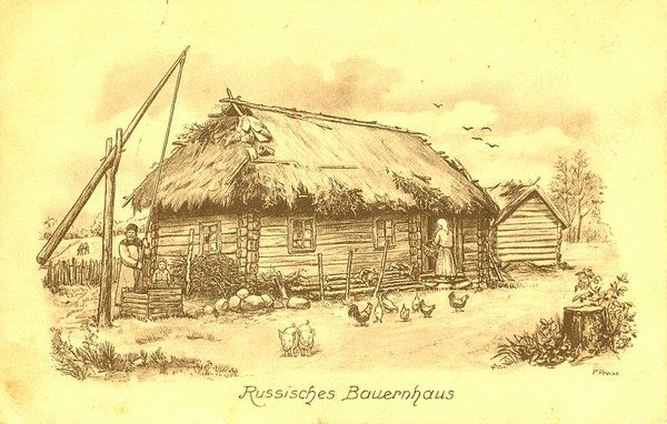 Russisches Bauernhaus 1916